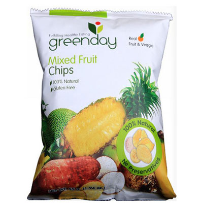 harga Greenday Mixedfruit Chips Original flavour 55g