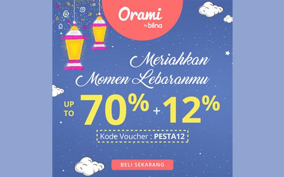 Orami  by Bilna - Meriahkan Momen Lebaranmu hemat hingga 70% + ekstra diskon 12%