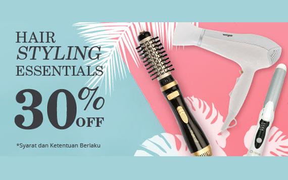 Hair Style Essentials : ... Berbagai Promosi Promosi masa lalu Hair Styling Essentials 30% Off
