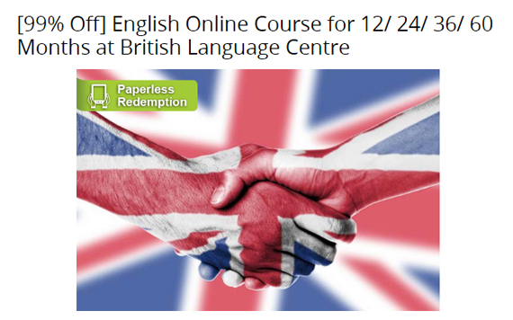 English Online Course for 12/24/36/60 Months at British Language Centre