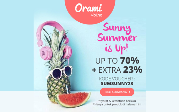 Sunny Summer is Up! Up to 70% + Extra 23%