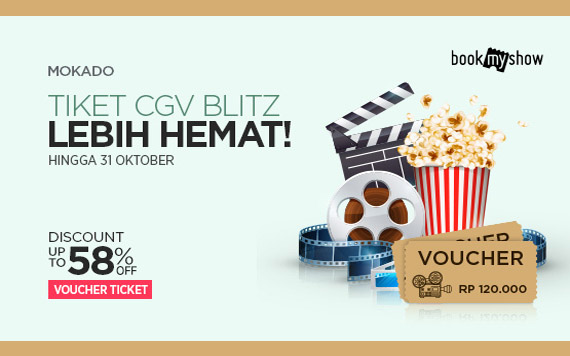 Elevenia Tiket CGV Blitz Lebih Hemat, Discount Up To 58% OFF Voucher Ticket
