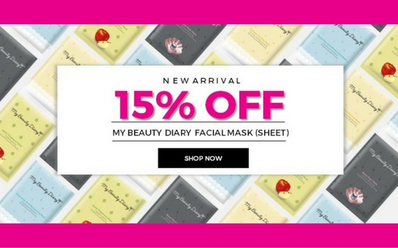 Nihonmart New Arrival Get Discount 15% OFF My Beauty Diary Facial Mask Sheet