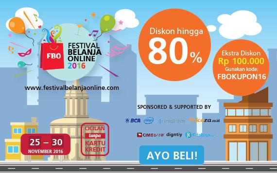 Bhinneka Festival Belanja Online Diskon Hingga 80% OFF + Ekstra Diskon 100 Ribu