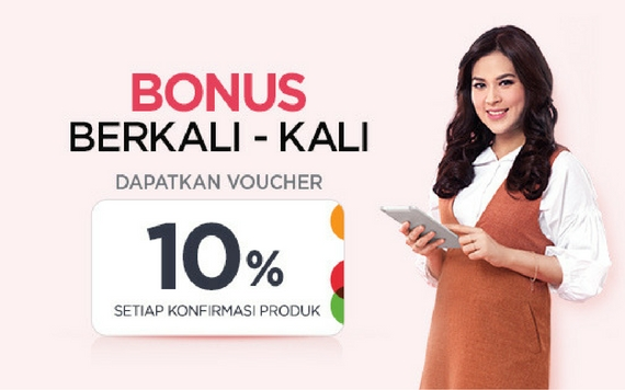 Elevenia Bonus Berkali-Kali Dapatkan Voucher 10% Setiap Konfirmasi Produk~