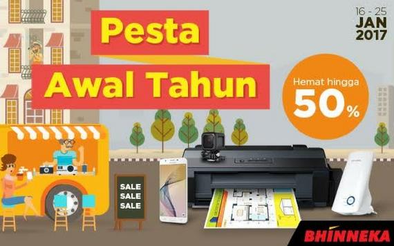 Bhinneka Pesta Awal Tahun Hemat Hingga 50% Sale Sale Sale...
