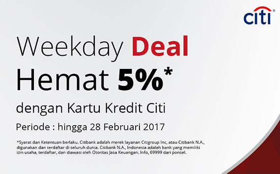 JDID Citi Weekdays Deal - 5% Off