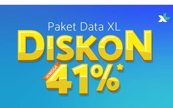 Tokopedia Paket Data XL Diskon 41%