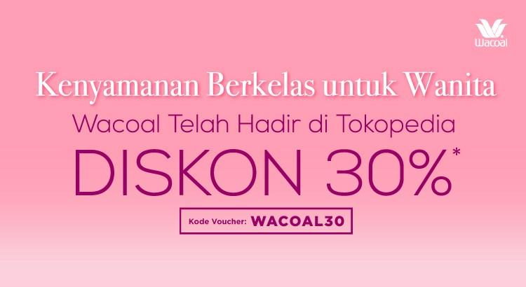 WACOAL DISKON 30%