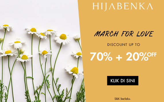 Hijabenka March For Love, Get 20% OFF Extra...