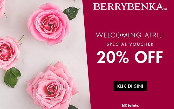 Berrybenka Welcoming April 20% OFF...