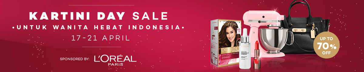 Lazada Kartini Day Sale by L'OREAL Paris Up To 70% OFF