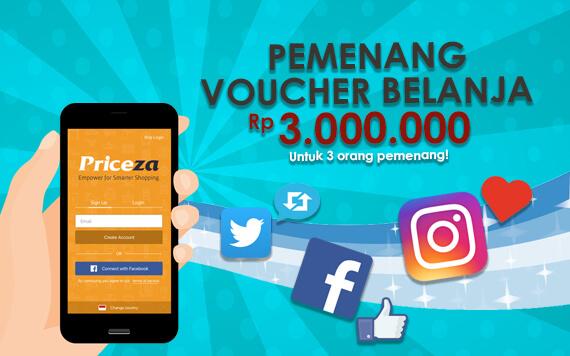 Pengumuman Pemenang #PricezaGame Berhadiah Voucher Belanja Rp 3 Juta!