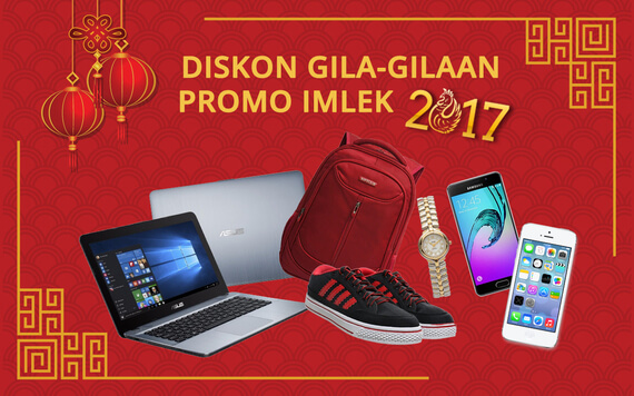 Promo Hari Imlek 2017 - Banjir Diskon Gila-Gilaan!